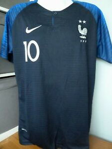 69405828391 FRANCE HOME FOOTBALL SHIRT - WORLD CUP WINNERS -2 STAR- #10 MBAPPE ...