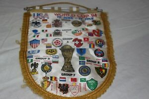 BANDERIN-GRANDE-VINTAGE-DEL-MUNDIAL-USA-94-CON-LOS-ESCUDOS-DE-TODOS-LOS-PAISES