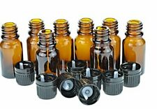 Wild Essentials 8 Pack Of 10ml Amber Glass Bottles With Euro Dropper Caps G
