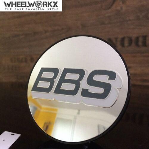 4 xOriginal BBS emblema CERCHI coperchio coperchio Mozzo Grigio//Bianco//Argento 70,6mm 0924486