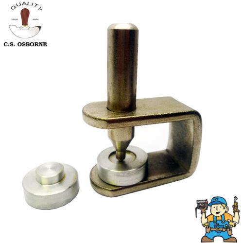 C.S Osborne Snap Fastener Setting Tool Size 20 /& 24 Standard /& Professional