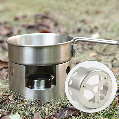 Portable Mini Alcohol Stove Stand Outdoor Camping Spirit Burner Stove Holder