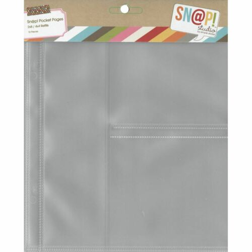 """Pages For 6/""""X8/"""" Binders 10PK- 4/""""X4/"""" Pockets 1 Simple Stories Sn@p 2/""""X8/"""" /& 2"""
