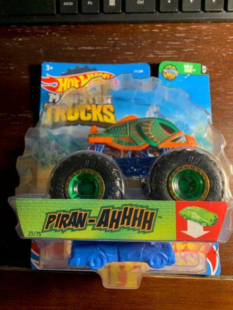 2021 Hot Wheels Monster Trucks - PIRAN-AHHHH - Includes Re-Crushable Car