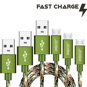 3-Pack-Camo-4ft-6ft-10ft-Micro-USB-Cable-FAST-Charging-Charger-Cord-for-Samsung
