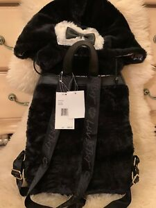 Book Cat Unicorn Bag Plush Fur Ear New Black 889487476849 Johnson Hooded Betsey Hood rugzak oWrCxQdBe