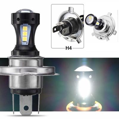 Bright Bulb Head Lamp H4 Motorcycle Headlight 18W 6500K 3030 LED Hi-Lo Beam