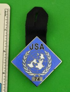 United-Nations-Joint-Security-Area-Panmunjom-Korea-Pocket-Badge-Pin-Numbered-UN