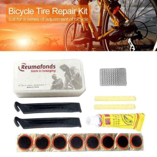 New Bike Bicycle Flat Tire Tyre Repair Tool Kit Rubber Patch Lever Glue K5R0