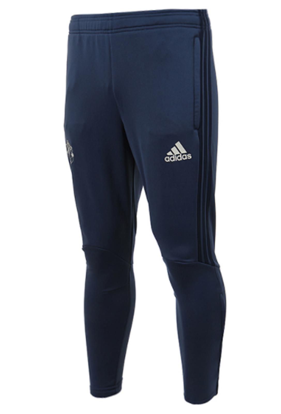 Adidas Hommes Manchester United Pantalon Entraînement L / S Marine Pantalon Décontracté De Course S95778