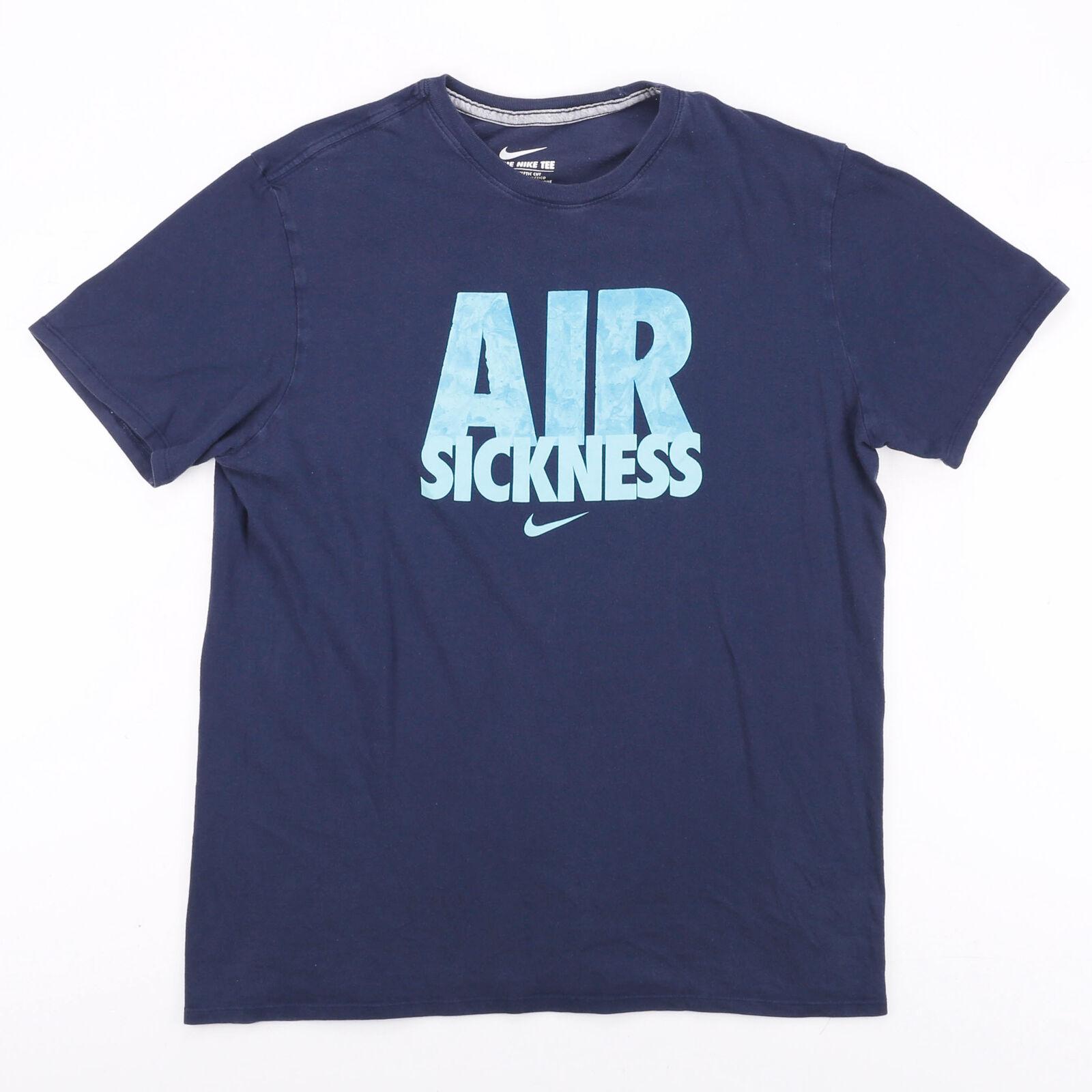 NIKE Blue 00s Short Sleeve T-Shirt Mens L