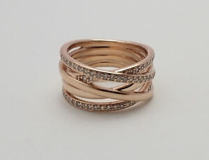aeec0f647 ... real image is loading 191 authentic pandora silver pandora rose  entwined ring 20297 5027c ...