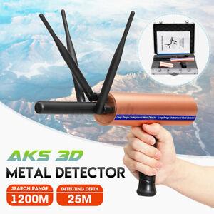 AKS 3D 1200m Metal Detector Detective Long Range Gold Treasure Digger Scanner