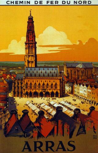 Chemins de Fer du Nord Arras travel Decor Poster 3124 Fine Graphic Art Design