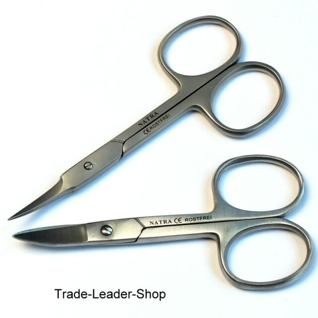 Manicure Scissors Set Of 2 Nail Cuticle Clippers Natra Ce German High Quality