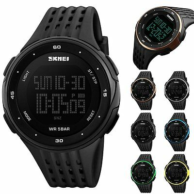 New SKMEI Watch Sport Quartz Wrist Men Mens Analog Digital Waterproof Military