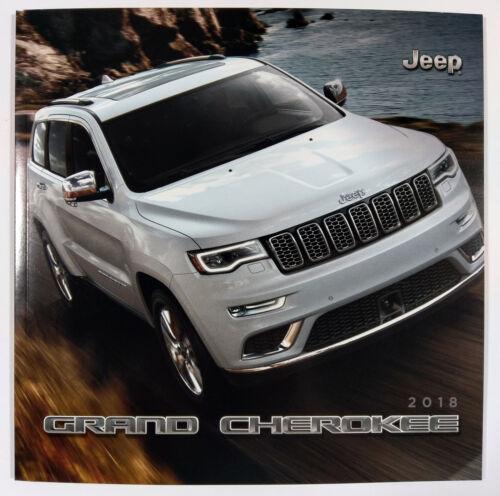 2018 Jeep Grand Cherokee 38-page Sales Brochure Catalog Slightly Damaged