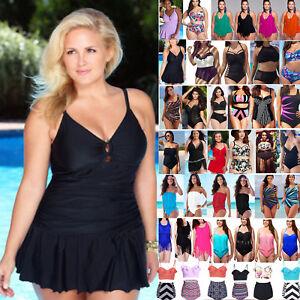 Plus-Size-Womens-Tankini-Bikini-Monokini-Swimsuit-Bathing-Suit-Summer-Swimwear