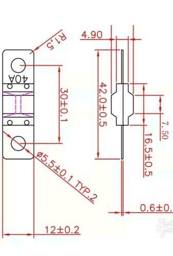 3 x 60 amp ANS FUSES   FAST AUS POST DUAL BATTERY   MIDI FUSE