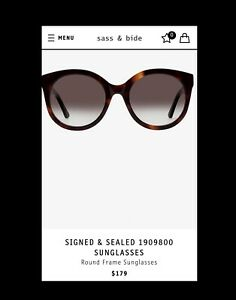 Sass-amp-Bide-Signed-and-Sealed-Sunglasses-BNWT-RRP-179-amp-Original-Leather-Case