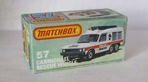Repro box Matchbox Superfast nº 57 Carmichael rescue vehicle