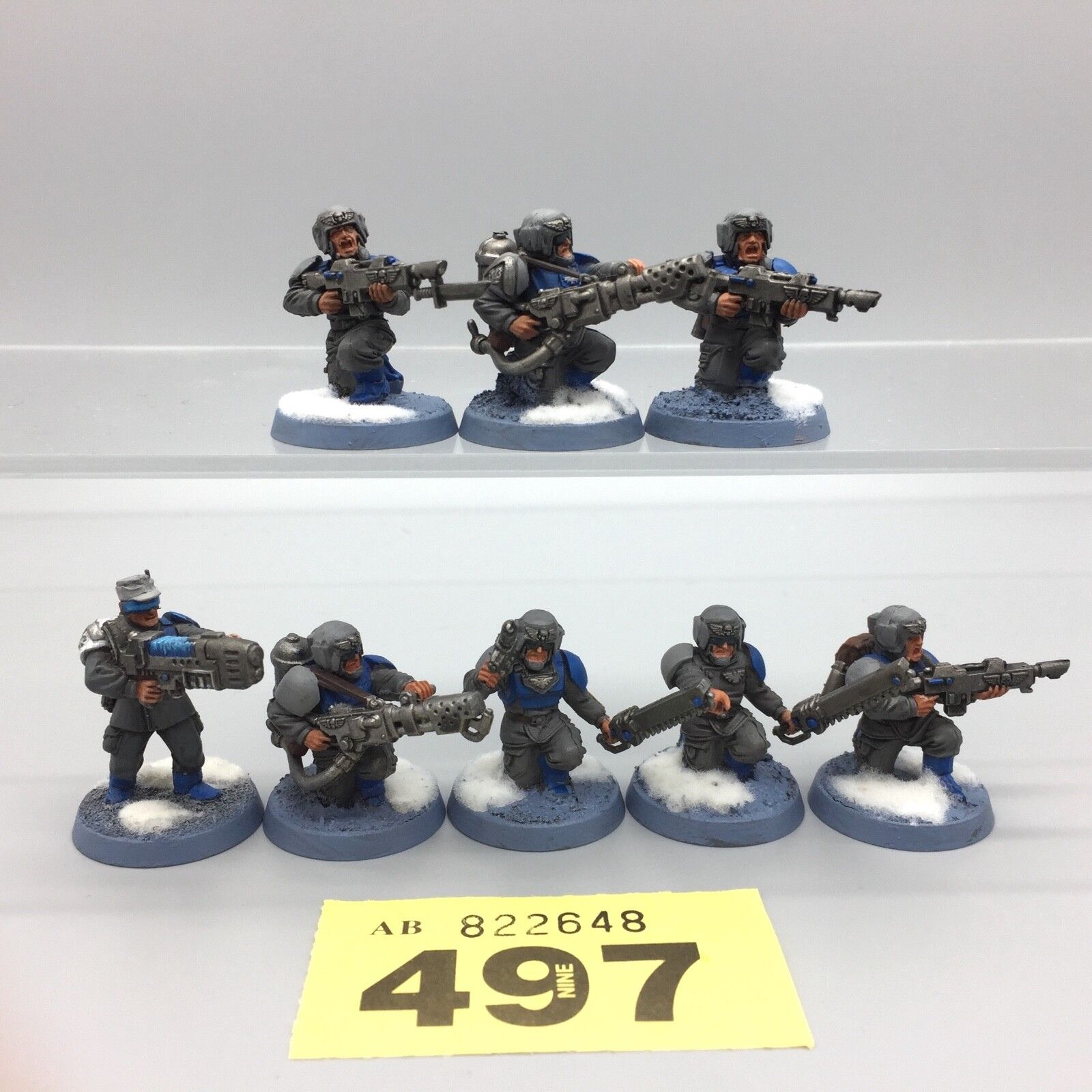 WARHAMMER 40,000 IMPERIAL GUARD ASTRA MILITARUM CADIAN VALHALLAN SNOW PAINTED