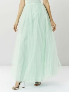 Coast-Women-039-s-Green-Tulle-Maxi-Cocktail-Long-Causal-Tall-Skirt-UK-6-To-16-59