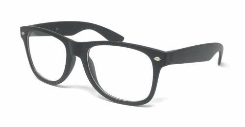 Black Wayfarer Glasses Clear Lens School Nerdy Geek Fancy Dress Accessory