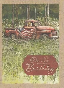 Image Is Loading Happy Birthday Vintage Greeting Card 901324