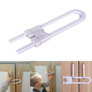 Baby-Safety-Lock-U-Shape-Security-For-Cabinet-Children-Cupboard-Doors-Drawer