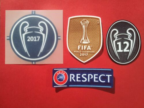 Patch Football Real Madrid Champions League 2017 - 2018 ✯✯✯✯  Promo Noël - 60 %