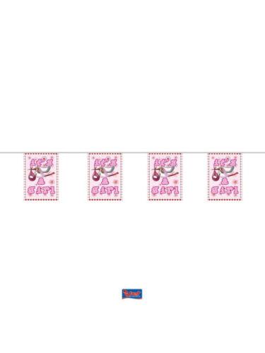 4 m Mini-fanion Chaîne Décoration naissance motif cigogne