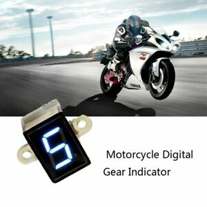 Motocicleta-Gauge-LED-display-Indicador-de-marchas-Sensor-de-palanca-Digital