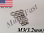 100 25 250 3.2mm Flat Washer 18-8 Stainless Steel 10 50 M3 500 Pcs.