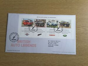 GB-2013-BRITISH-AUTO-LEGENDS-MINI-SHEET-First-Day-Cover-TALLENTS-HOUSE-Pmk