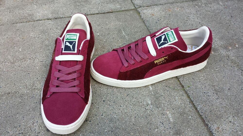 Puma Suede City Classic Baskets Chaussures Bordeaux Bourgogne 46 US 12 NEW-