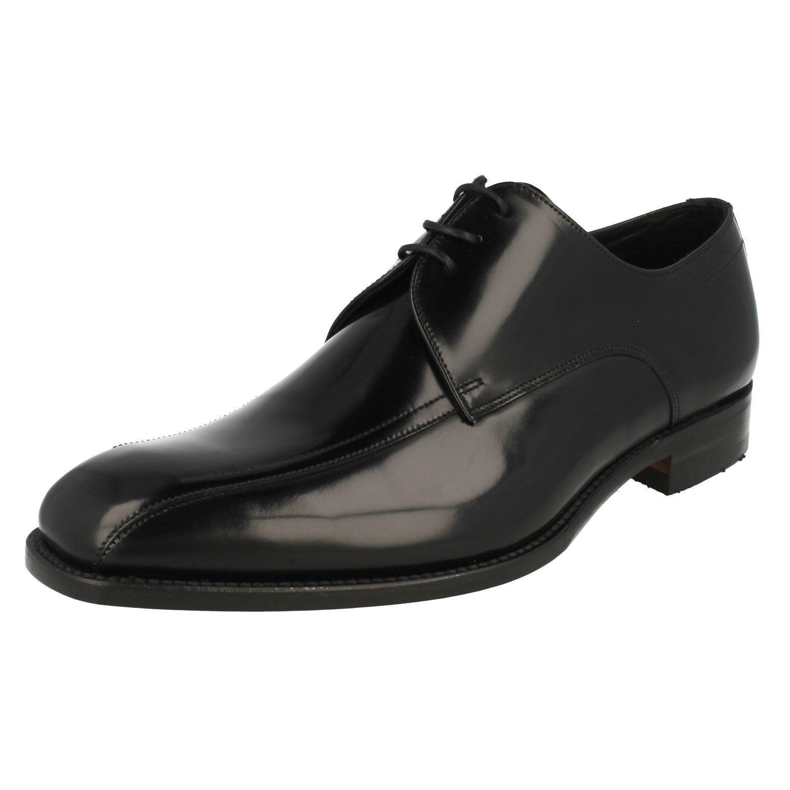 Loakes Herren Schwarz Leder Spitze UK Oben Schuhe UK Spitze Größen 7.5 - 11 F Passung ccc792