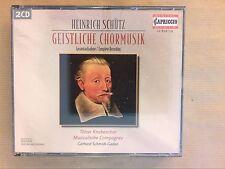 COFFRET 2 CD / HEINRICH SCHUTZ / INTEGRALE DES MOTETS / GERHARD SCHMIDT GADEN
