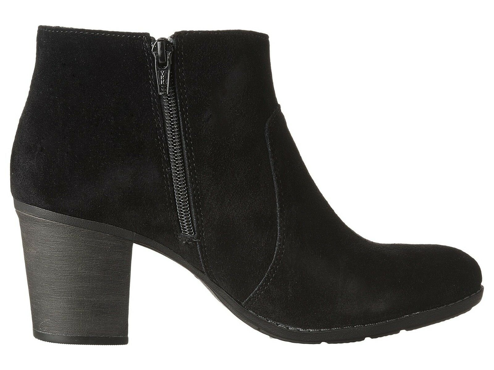 NEW Damenschuhe CLARKS SIDE COLLECTION ENFIELD SENYA BLACK LEATHER SUEDE SIDE CLARKS ZIPPER Stiefel b034e2