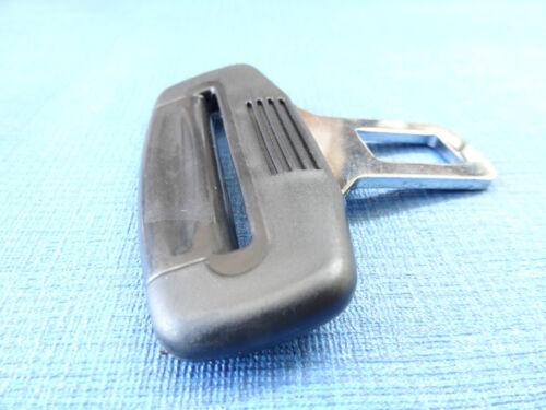 *BLACK* RENAULT MEGANE//SCENIC SEAT BELT ALARM BUCKLE KEY CLIP SAFETY CLASP STOP