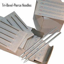 10 Body Piercing Gauge Tri Bevel Pierce Needles