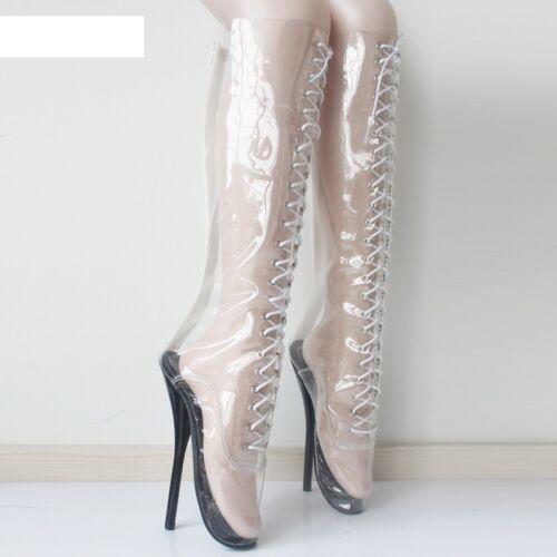 Ballet High Boot 18 See Cms Boots Pvc Sexy Knee Through Heals qwqCU14B