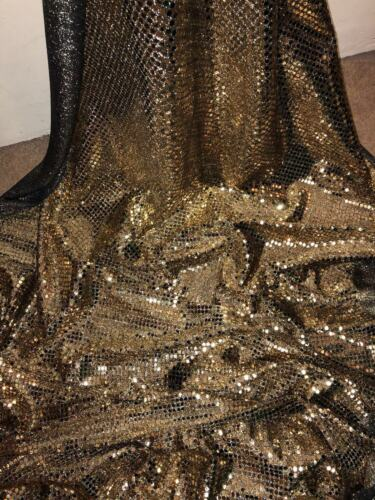 """5 MTR GOLD ALL OVER SEQUIN FABRIC..45/"""" WIDE SPECIAL OFFER"""