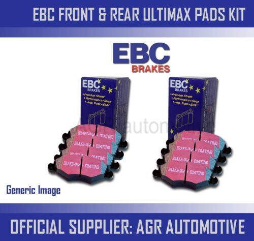 EBC FRONT REAR PADS KIT FOR AUDI TTS QUATTRO 2.0 TURBO 272 BHP 2008-14