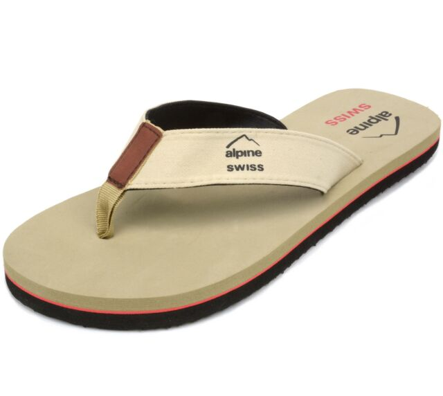 f6e1d71c7cbfd2 Alpine Swiss Mens Flip Flops Beach Sandals Eva Sole Comfort Thongs ...