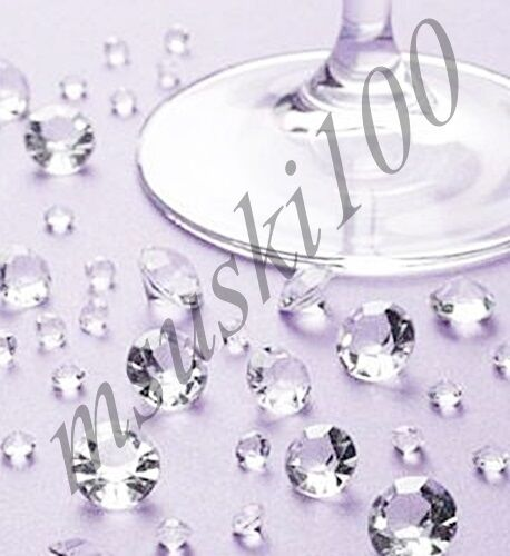 CLEAR WEDDING TABLE SCATTER CRYSTALS DIAMOND CONFETTI DECORATION
