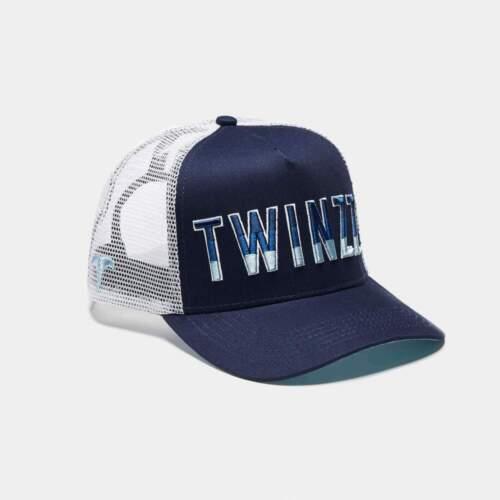 Twinzz 3D Gradient Mesh Trucker en Bleu Marine//Blanc /& Bleu