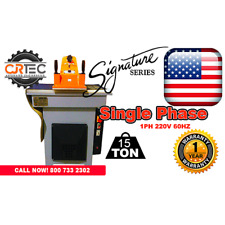 New Cjrtec 15 Ton Swing Arm Clicker Press Hydraulic Die Cutting Machine