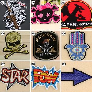 1-10PCS-Embroidered-Sew-On-Patches-Punk-Style-Transfer-Fabric-Clothes-Applique