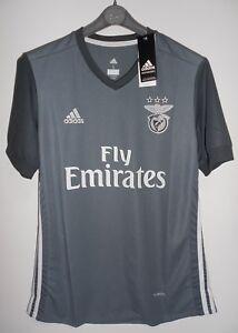 hot sale online 94b88 d8418 Details about New Adidas Benfica Lisbon - Portugal Jersey Shirt Away 2017 /  2018 Grey